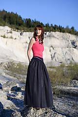 Sukne - Sukňa Claire- tmavomodrá - 10671196_