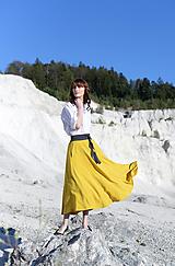 Sukne - Sukňa  Megi - horčicová - 10671213_