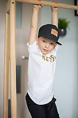 - Tričko Bielo - Zlaté - Revel (104) - 10671848_
