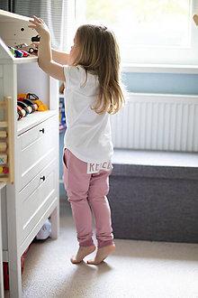 Detské oblečenie - Pudlové tepláky staroružové - RVL - 10671835_