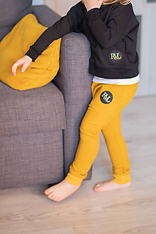 Detské oblečenie - Tepláky šafránová žltá - RVL - 10671991_