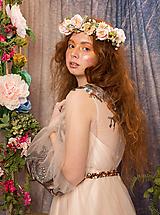 """Ozdoby do vlasov - Kvetinový polvenček """"v čase chýbania"""" - 10672333_"""