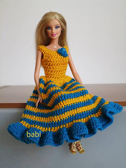 Háčkované šatičky pre Barbie