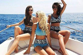 Nohavice - Šortky s nastaviteľným pásom v troch farbách (M Čierna) - 10671223_
