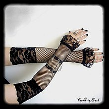Rukavice - Sieťované rukavičky - 10673667_