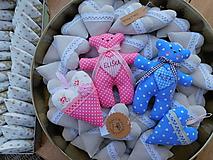 Darčeky pre svadobčanov - Svadobný medvedík s menom, 17 cm - 10673629_