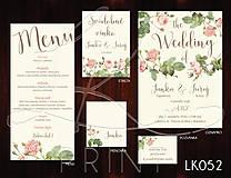 Papiernictvo - Svadobné oznámenie LK052 - 10671893_