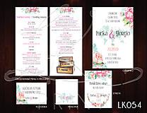 Papiernictvo - Svadobné oznámenie LK054 - 10671904_