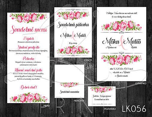 Svadobné oznámenie LK056
