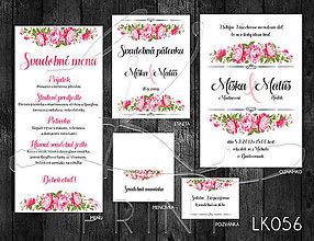 Papiernictvo - Svadobné oznámenie LK056 - 10671920_
