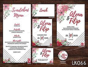Papiernictvo - Svadobné oznámenie LK066 - 10672128_