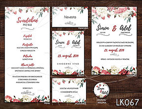 Papiernictvo - Svadobné oznámenie LK067 - 10672136_