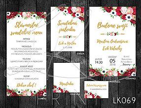 Papiernictvo - Svadobné oznámenie LK069 - 10672165_