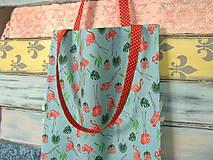 Nákupné tašky - Taška pro plameňákovou exotku - 10672296_