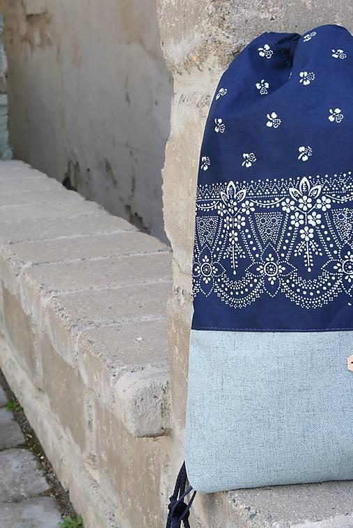 batoh Lesana modrotlačová 9