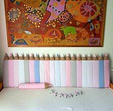 Textil - Zástena Ceruzky 5 cm hrubá s 3D efektom - 10673469_