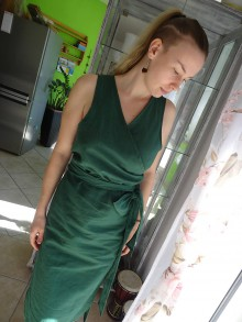 Šaty - letné ľanové šaty - 10671153_
