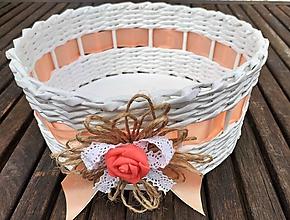 Dekorácie - Košíček  (košíček broskyňový) - 10675532_