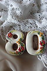 Dekorácie - Čisla na tortu - 10674444_