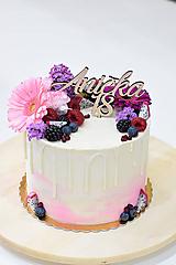 Dekorácie - Zápich na tortu s číslom 18 - 10675274_