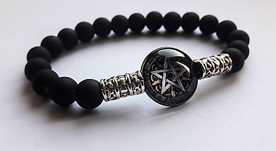 Náramky - Náramok Pentagram - 10674044_