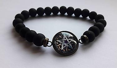 Náramky - Náramok Pentagram - 10674045_