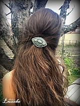 Ozdoby do vlasov - ♥ Vlasový ochranný amulet s labradoritom♥ - 10675631_