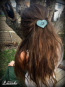 Ozdoby do vlasov - ♥Vlasový ochranný amulet s labradoritom ♥ - 10675783_