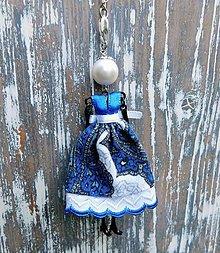 """Náhrdelníky - Náhrdelník """"Slečna v modro-bielom"""" - 10674315_"""