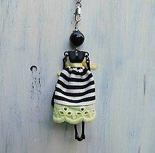 """Náhrdelníky - Náhrdelník """"Slečna v čierno-bielom pásikavom"""" - 10674338_"""