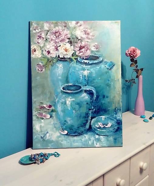 Obrazy - Turquoise velvet  - 10674762_