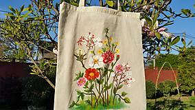 Nákupné tašky - Nákupná taška - kvety - 10675301_