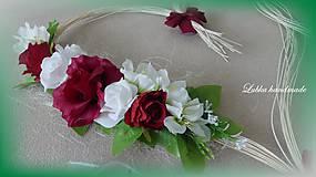 Dekorácie - Výzdoba svadobného auta - Ratanové srdiečka + mašle na kľučky - 10674551_