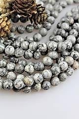 - jaspis sivý korálky 10mm - strieborný jaspis - 10676323_