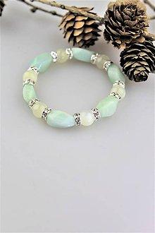 Náramky - amazonit a mesačný kameň náramok luxusný - 10674626_