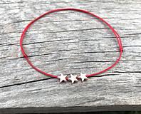 Náramky - Náramok s hviezdičkou na členok - 10674351_