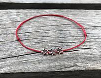 Náramky - Náramok s hviezdičkou na členok - 10674355_