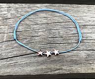 Náramky - Náramok s hviezdičkou na členok - 10674358_