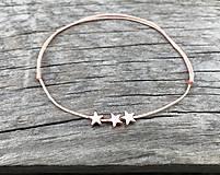 Náramky - Náramok s hviezdičkou na členok - 10674360_