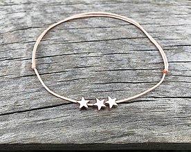 Náramky - Náramok s hviezdičkou na členok   (Béžová) - 10674360_