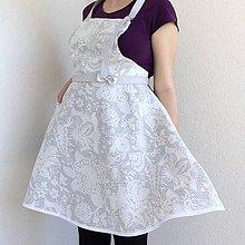 Iné oblečenie - kuchynská zástera sivá - 10675305_
