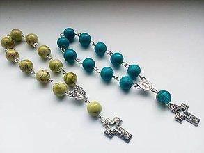 Iné šperky - Ruženec v dvoch farbách - 10675227_