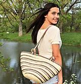 Kabelky - Pletená kabelka s pevnými popruhmi na rameno (Beach time) - 10676410_