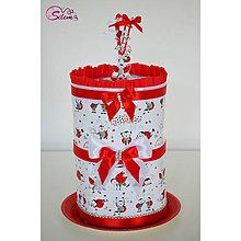 Detské doplnky - Plienková torta s lienkami - 10676700_