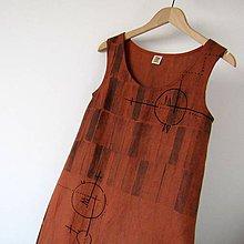 Šaty - RYTMUS v REZAVÉ - šaty lněné - 10674704_