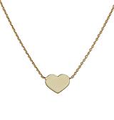 Náhrdelníky - Zlatá retiazka so srdiečkom (Žlté zlato) - 10675471_