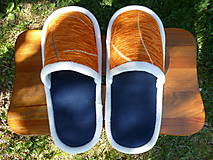 Obuv - Papuče z oranžovej poťahovky - 10674370_