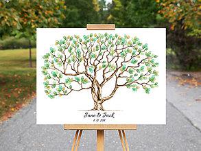 Grafika - Svadobný strom na odtlačky prstov - 10674938_