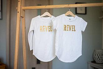 Detské oblečenie - Predĺžené tričko biele - RVL - 10676792_