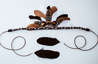 Ozdoby do vlasov - Bohémská čelenka vhodná na festival - 10674016_
